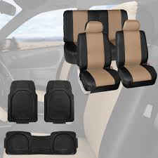 BESTFH: Beige Faux Leather Car Auto Seat Covers Combo W/Black Heavy ... Dog Car Accsories For Sale Travel Dogs Online Heavy Duty Design Universal Double Van Seat Cover From Direct Parts Universal Pu Leather Seat Covers Truck Van Front Amazoncom Universal Cover Case With Organizer Storage Muti Oxgord 2piece Full Size Saddle Blanket Bench Isuzu Dmax 2012 On Easy Fit Tailored Double Cab Bestfh Beige Faux Leather Auto Combo Wblack Solid Black For Set Wheavy Heavy Duty Seat W Arm Rests For Forklifts Tehandlers Premium Rear White Horse Motors 2 Headrests Floor