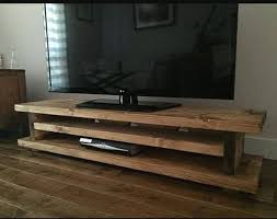Used Woodworking Machinery Ebay Uk by Chunky Rustic Tv Audio Dvd Unit Mk1 Solid Wood Oak Stain Uk Made