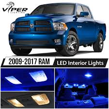 2009-2017 Dodge RAM 1500 2500 3500 Blue LED Interior Lights Package ...
