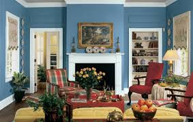 Living Room With Fireplace And Bookshelves by Charming Interior Design Color Ideas For Living Rooms With Blue