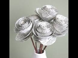 Creative Recycled Newspaper Art Craft Design Collection Youtube In And For Kids With