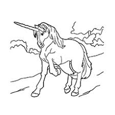 Chinese Unicorn Printable Coloring Sheet
