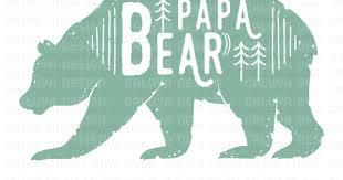 Papa Bear Free SVG PNG EPS DXF Download
