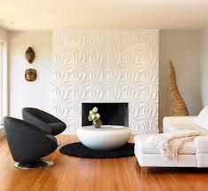 weiße 3d tapete für den kamin fliesen wohnzimmer moderne