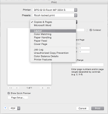 Mac OS X Print Dialog Layout Word 14
