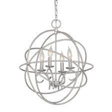 Kichler Vivian 1902 In 4 Light Brushed Nickel Globe Chandelier