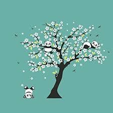 stickers panda chambre bébé lianle arbre panda stickers muraux autocollants décoration de salon
