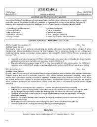 Resume Sample Project Manager Objective For Manufacturing