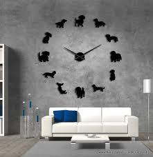wohnzimmer dackel wanduhr groß in schwarz 119 cm haus