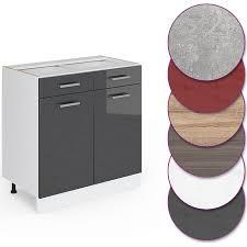 vicco küche r line unterschrank 80 cm mit schubladen verschiedene farben
