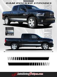 2009-2018 Dodge Ram Rocker Strobes Lower Door Truck Side Vinyl ...
