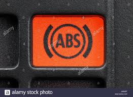 ABS warning light in car dashboard Stock Royalty Free Image