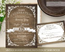 Rustic Wedding Invitation Printable Set Country Invite Vintage Barn Wood DIY Digital Stationery Template RSVP