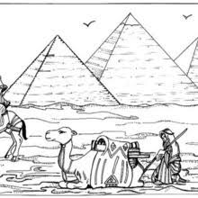 PYRAMID OF DJOSER For Children Pyramids Coloring Page