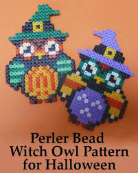 Patterns Make A Perler Bead Witch Owl Design For Halloween
