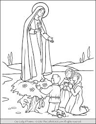 Our Lady Of Fatima Coloring Page