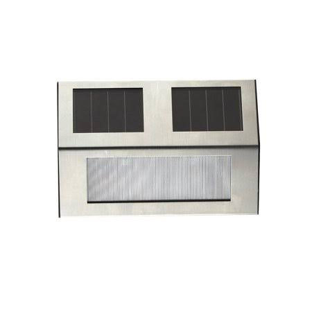 Living Accents Solar Powered Step Light - Silver
