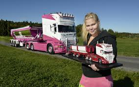 100 Girls On Trucks Pictures Scania Blonde Girl Automobile 3840x2400