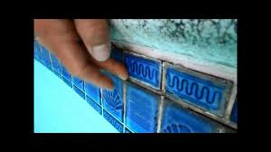 Waterline Pool Tile Designs by Temporary Pool Tile Repair A Quick Fix Youtube