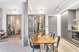 City apartment with an industrial interior design