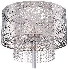 Laser Cut Lamp Plans by Possini Euro Chrome Nest Crystal Chandelier Floor Lamp Amazon Com