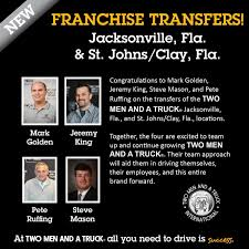 100 Two Men And A Truck Jacksonville Fl TWO MEN ND TRUCK On Twitter Congrats To Franchisees Mark