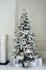 Flocked Tree Decoration Ideas Alaskan Christmas Vickerman Trees Dreamy