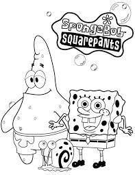Coloring Pages For Kids Spongebob Squarepants