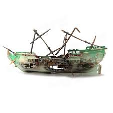 aquarium decoration air split shipwreck aquarium ornament at