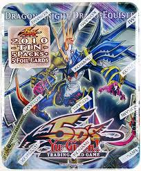 Konami Yu Gi Oh 2010 Collectible Tins Wave 1 Dragon Knight Draco Equiste Tin