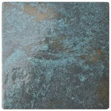 somertile 6x6 inch oceano green river porcelain floor and wall