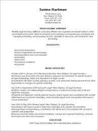 Legal Secretary Resume Template Best Design Tips