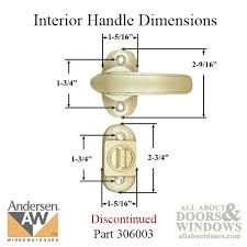 Emco Keyed 3 Post Storm Door Hardware with Deadbolt for 1 1 2 Inch