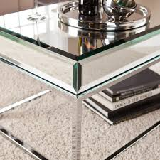 Glass Living Room Table Walmart by Illusions Collection Mirrored Accent Table Walmart Com