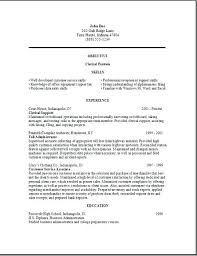 Clerical Resume Sample Job Samples