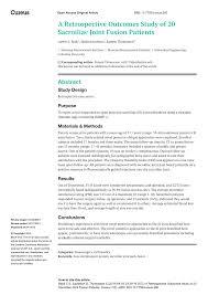 si e orthop ique a retrospective outcomes study of 20 pdf available