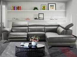 canape angle cuir relax electrique canapé d angle relax électrique en cuir gris rivas