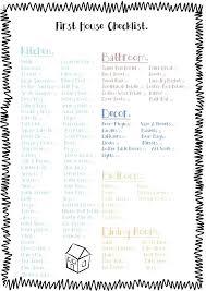 First Home Essentials Checklist Apartment Living Bar
