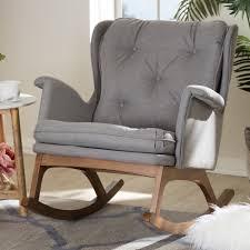 100 Rocking Chair With Pouf Dark Wood Kitchen S Probably Super Fun Leya Armchair High