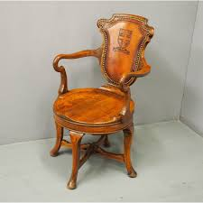 Oak Revolving Desk Chair - Antiques Atlas Antique Wooden Chairs Timothykparkcom Dragon Chairs 97 For Sale On 1stdibs Antique Rocking Chair With Tooled Leather Seat Collectors Tips On Checking Rocking Chair With Leather Seat Image And Big Cedar Rocker 19th Century 91 At Attractive Oak Home And Vintage Bentwood By Thonet Best Recliner Used For Chairish