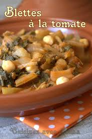 cuisiner blettes recette de blettes à l algérienne la cuisine de djouza plaisir