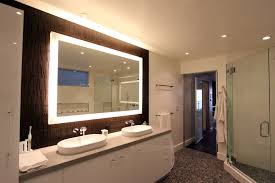 lighted bathroom mirror wall all about home design modern
