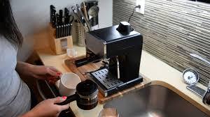 Using Mr Coffee Steam Espresso Cappuccino Maker