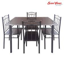 San-Yang Dining Set FDS12024S Details About 5 Piece Ding Table Set 4 Chairs Glass Metal Kitchen Room Breakfast Fniture House By John Lewis Anton 68 Seater Extending Oak Fast Food And Chair Philippines Restaurant For Sale Buy Aircheap Used Newhaven Round Extension Angels Modish Solid Sheesham Wood Walnut Finish Folding Ashley Grindleburg In Twotone Calpe Flip Top Induscraft Sheesam Brown Hedsta Ikea V2 Harald V3 Strata Universal Eileen 6 Costco Uk Hadleigh Of Fabric Homelegance Dandelion 5pc Taupe