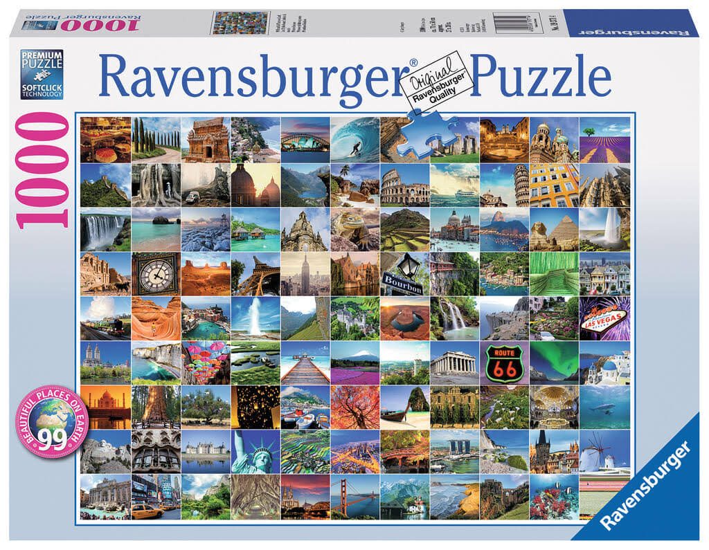 Ravensburger 99 Beautiful Places on Earth Puzzle - 1000 Pieces