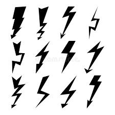 Download Lightning Signs Vector Set Bolt Icons Thunder Symbols Flash Pictograms
