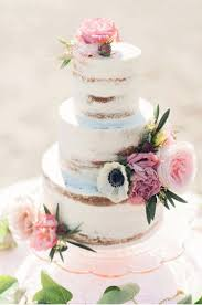 Canadian Wedding Inspiration Naked Cake By Annie Beach Boho