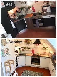 küche gestrichen mit kreidefarbe einfach ohne schleifen und