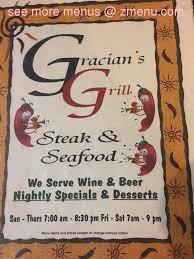 Apple Shed Restaurant Tehachapi by Online Menu Of Gracian Grill Restaurant Tehachapi California