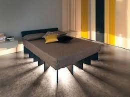 Unique Floating Bed Frame With Lighting Decofurnish